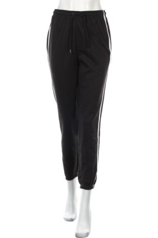 Дамско спортно долнище Boohoo, Размер M, Цвят Черен, 50% полиестер, 50% памук, Цена 28,50лв.