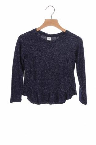 Детска блуза Gap, Размер 4-5y/ 110-116 см, Цвят Син, 76% вискоза, 20% полиестер, 4% еластан, Цена 18,06лв.