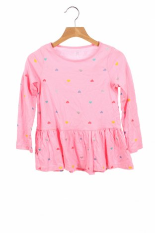 Детска блуза Gap Baby, Размер 4-5y/ 110-116 см, Цвят Розов, 100% памук, Цена 18,92лв.