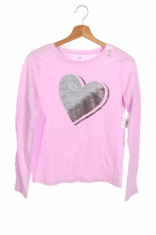 Детска блуза Gap Kids, Размер 13-14y/ 164-168 см, Цвят Лилав, Памук, Цена 19,08лв.