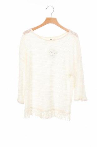 Детска блуза H&M, Размер 15-18y/ 170-176 см, Цвят Бял, Цена 4,20лв.