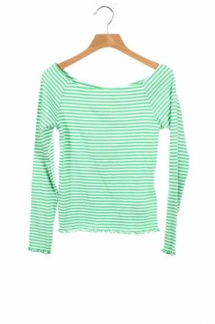 Детска блуза LMTD, Размер 10-11y/ 146-152 см, Цвят Зелен, 95% памук, 5% еластан, Цена 18,70лв.