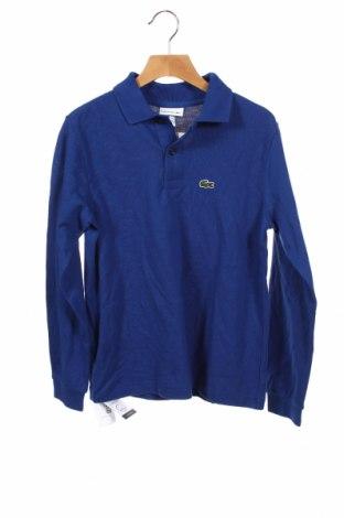 Детска блуза Lacoste, Размер 9-10y/ 140-146 см, Цвят Син, 100% памук, Цена 36,57лв.