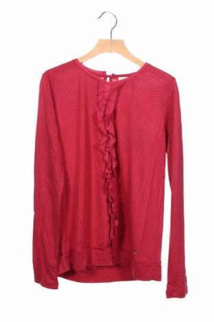 Детска блуза Massimo Dutti, Размер 10-11y/ 146-152 см, Цвят Червен, 67% лиосел, 33% полиамид, Цена 25,37лв.
