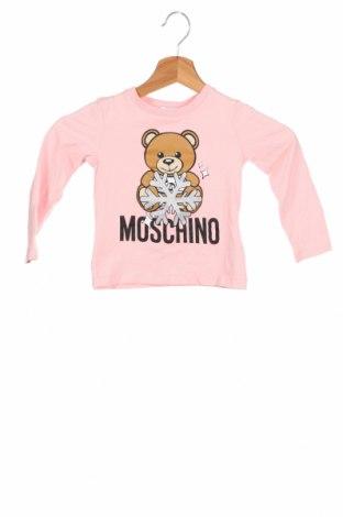 Детска блуза Moschino, Размер 2-3y/ 98-104 см, Цвят Розов, 95% памук, 5% еластан, Цена 81,75лв.