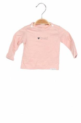 Детска блуза Noppies, Размер 0-1m/ 50 см, Цвят Розов, 95% памук, 5% еластан, Цена 11,18лв.