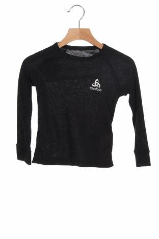 Детска спортна блуза Odlo, Размер 3-4y/ 104-110 см, Цвят Черен, Полиестер, Цена 31,50лв.