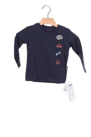 Детска блуза Oviesse, Размер 9-12m/ 74-80 см, Цвят Син, Цена 21,60лв.