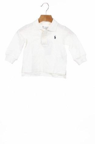 Детска блуза Ralph Lauren, Размер 9-12m/ 74-80 см, Цвят Бял, 100% памук, Цена 38,35лв.
