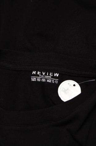 Детска блуза Review, Размер 11-12y/ 152-158 см, Цвят Черен, Памук, Цена 18,24лв.