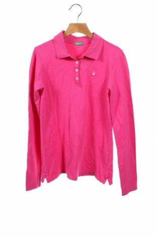 Детска блуза United Colors Of Benetton, Размер 12-13y/ 158-164 см, Цвят Розов, 97% памук, 3% еластан, Цена 28,50лв.