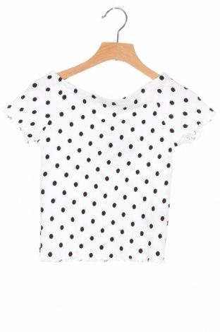 Детска блуза Zara, Размер 7-8y/ 128-134 см, Цвят Бял, 95% полиуретан, 4% полиестер, 1% еластан, Цена 8,80лв.