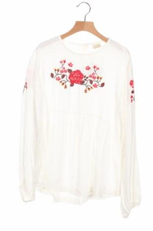 Детска блуза Zara, Размер 13-14y/ 164-168 см, Цвят Бял, Цена 14,00лв.