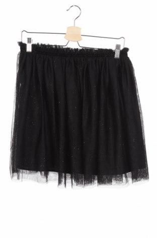 Детска пола H&M, Размер 14-15y/ 168-170 см, Цвят Черен, Полиестер, Цена 5,50лв.