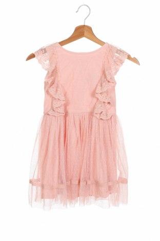 Детска рокля Next, Размер 4-5y/ 110-116 см, Цвят Розов, Полиестер, Цена 40,50лв.