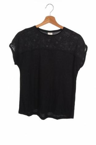 Детска тениска Zara Kids, Размер 11-12y/ 152-158 см, Цвят Черен, 65% полиестер, 35% памук, Цена 5,60лв.
