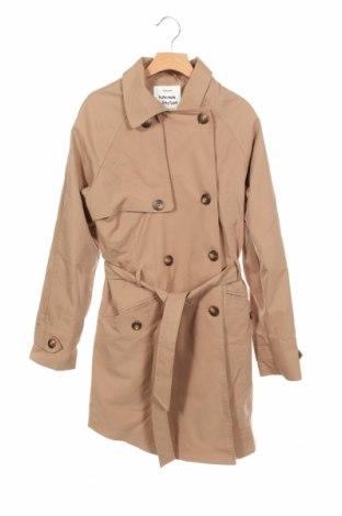 Детски шлифер Zara, Размер 13-14y/ 164-168 см, Цвят Кафяв, 55% памук, 45% полиестер, Цена 9,45лв.