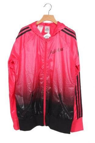 Детско яке Adidas, Размер 15-18y/ 170-176 см, Цвят Розов, Полиестер, Цена 33,80лв.