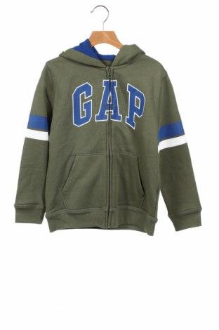 Детски суичър Gap Baby, Размер 7-8y/ 128-134 см, Цвят Зелен, 77% памук, 23% полиестер, Цена 37,17лв.