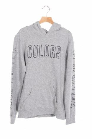 Детски суичър United Colors Of Benetton, Размер 14-15y/ 168-170 см, Цвят Сив, 100% памук, Цена 43,50лв.