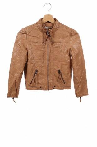 Dziecięca skórzana kurtka Target, Rozmiar 9-10y/ 140-146 cm, Kolor Brązowy, Eko skóra, Cena 105,30zł