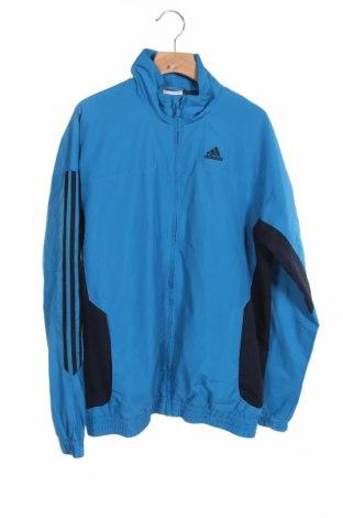 Детско спортно яке Adidas, Размер 13-14y/ 164-168 см, Цвят Син, Полиестер, Цена 10,08лв.