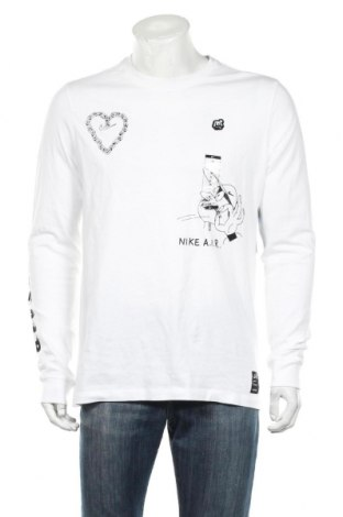 Ανδρική μπλούζα Nike, Μέγεθος M, Χρώμα Λευκό, Βαμβάκι, Τιμή 26,68€