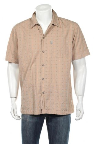 Мъжка риза Plusminus by Chiemsee, Размер M, Цвят Бежов, Памук, Цена 5,80лв.