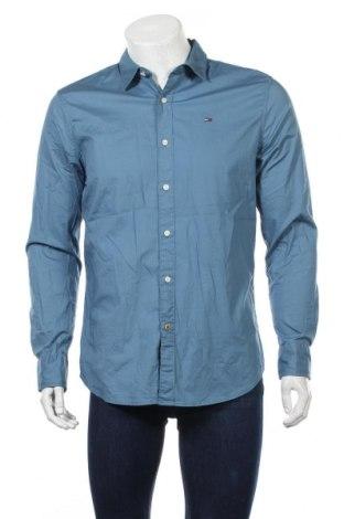 Ανδρικό πουκάμισο Tommy Hilfiger, Μέγεθος L, Χρώμα Μπλέ, 97% βαμβάκι, 3% ελαστάνη, Τιμή 24,55€