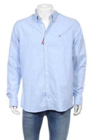 Мъжка риза Tommy Hilfiger, Размер XL, Цвят Син, 98% памук, 2% еластан, Цена 81,90лв.