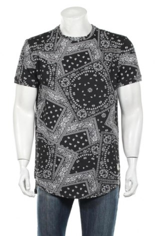 Męski T-shirt, Rozmiar XL, Kolor Czarny, 65% bawełna, 35% poliester, Cena 54,60zł