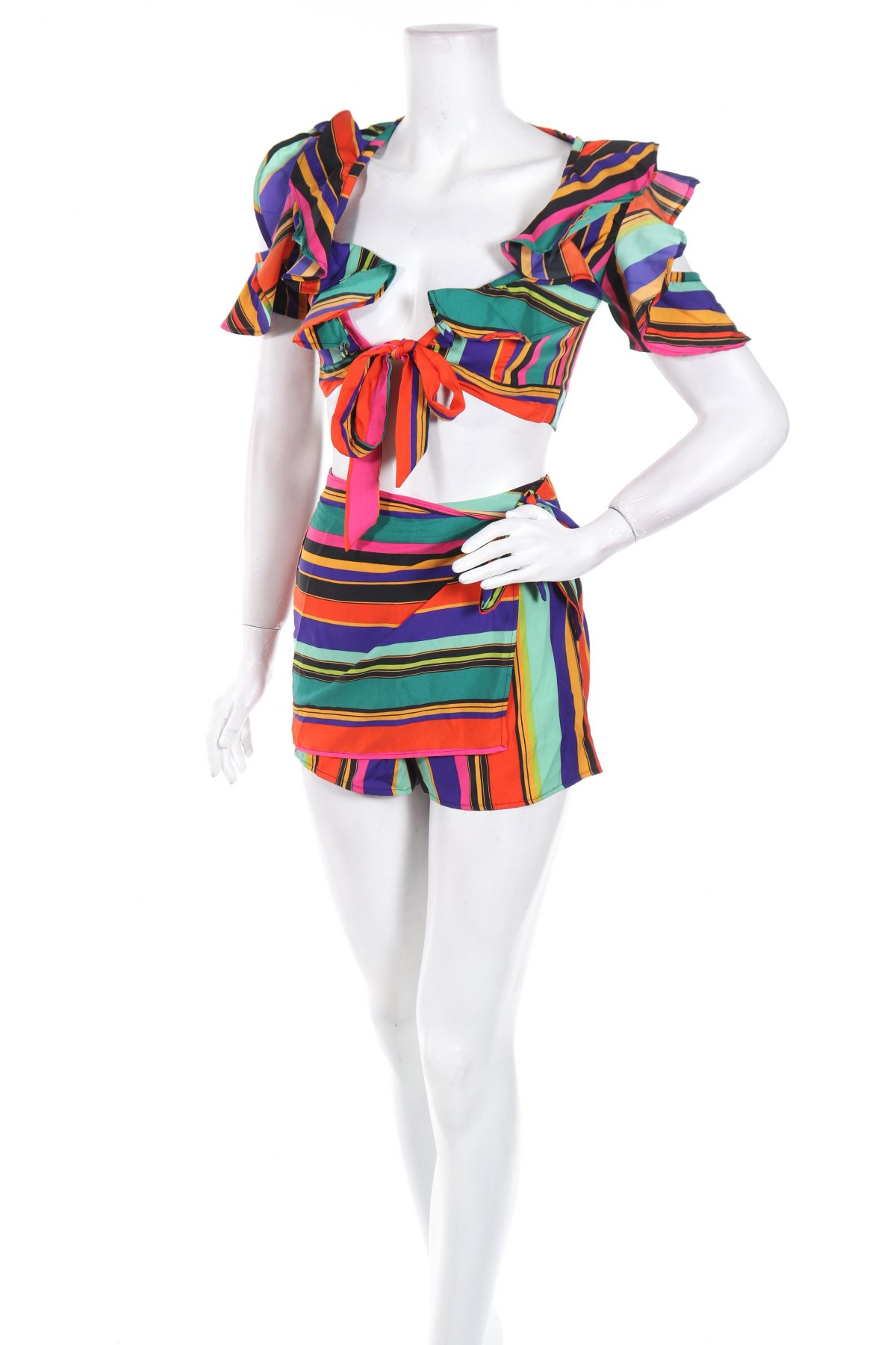 Дамски комплект Boohoo, Размер XXS, Цвят Многоцветен, Полиестер, Цена 6,60лв.