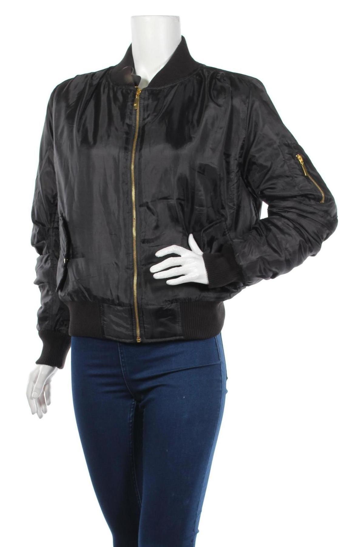 Дамско яке, Размер M, Цвят Черен, Полиестер, Цена 54,00лв.