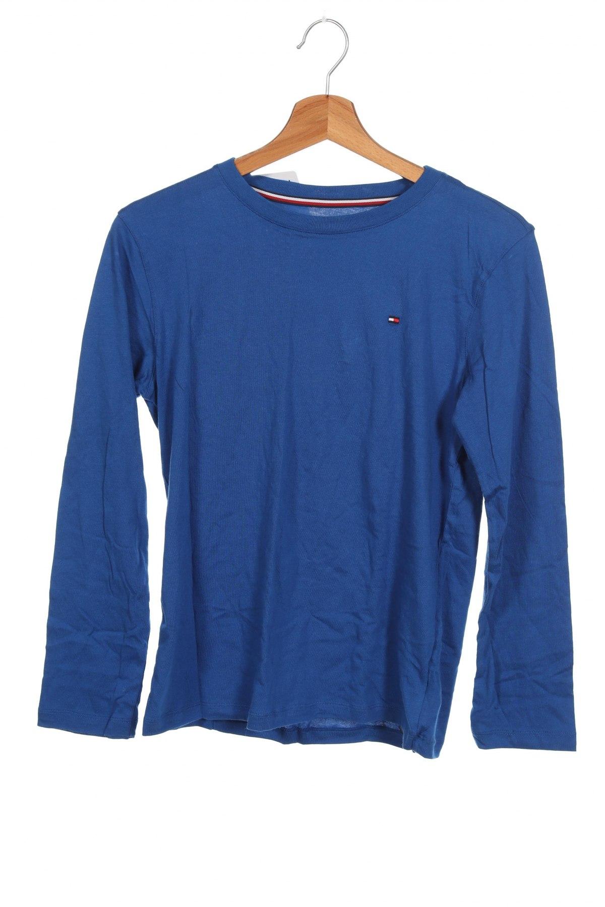 Детска блуза Tommy Hilfiger, Размер 11-12y/ 152-158 см, Цвят Син, Памук, Цена 44,25лв.
