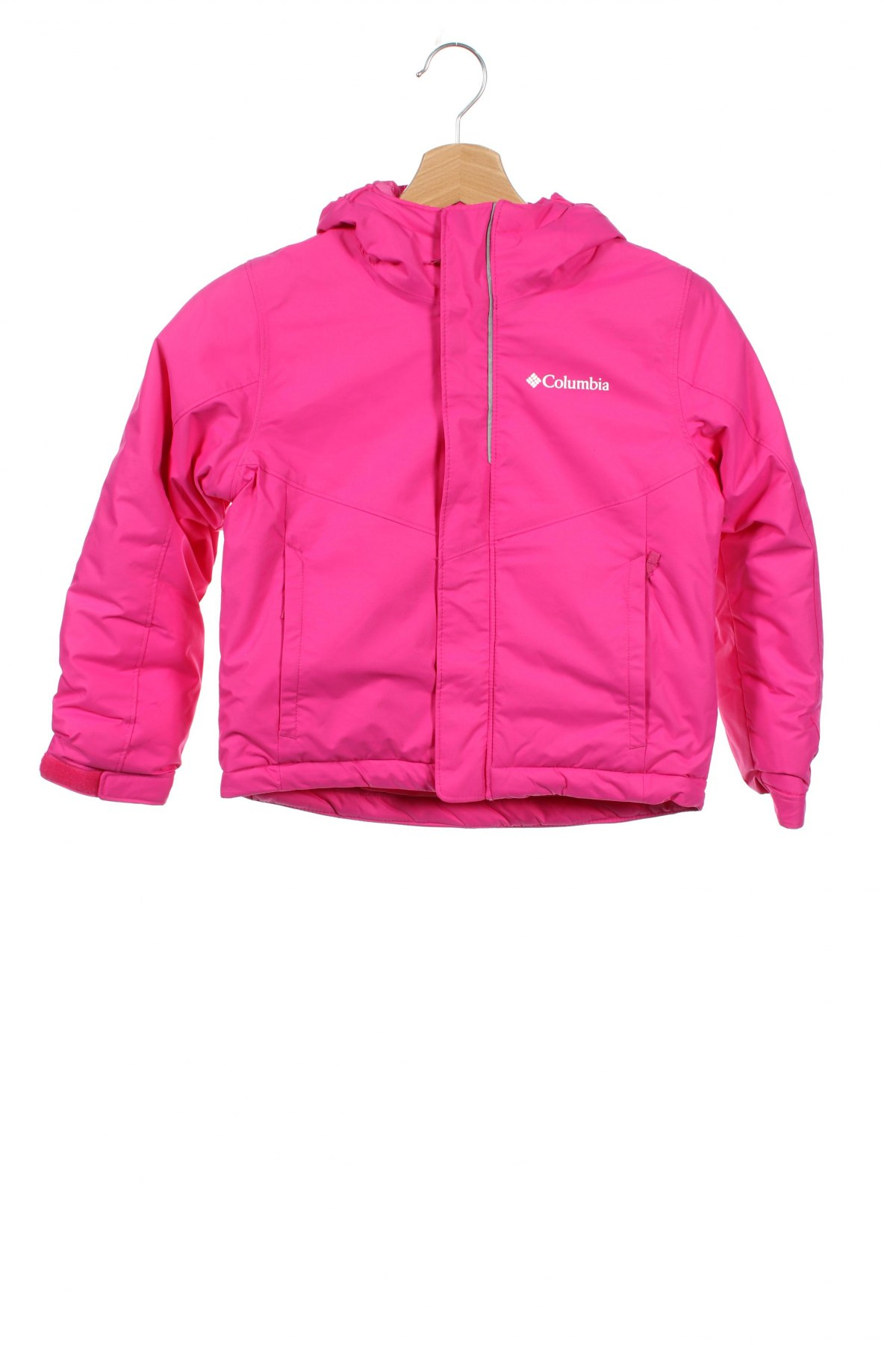 Детско спортно яке Columbia, Размер 6-7y/ 122-128 см, Цвят Розов, Полиамид, Цена 81,88лв.