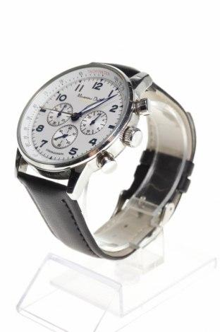 Ρολόι Massimo Dutti, Χρώμα Μαύρο, Γνήσιο δέρμα, μέταλλο, Τιμή 65,33€
