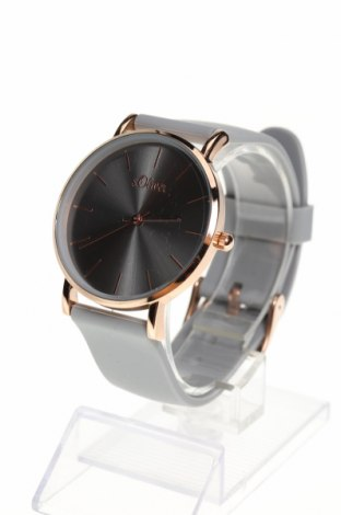 Часовник S.Oliver, Цвят Сив, Силикон, метал, Цена 74,25лв.