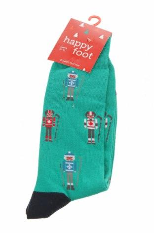 Чорапи Happy Socks, Размер M, Цвят Зелен, 63% памук, 24% полиестер, 11% полиамид, 2% еластан, Цена 16,50лв.
