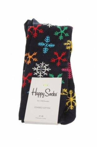 Чорапи Happy Socks, Размер M, Цвят Син, 86% памук, 12% полиамид, 2% еластан, Цена 13,86лв.