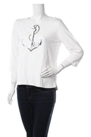 Дамска блуза Cortefiel, Размер L, Цвят Бял, 60% вискоза, 36% полиестер, 4% еластан, Цена 4,99лв.