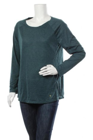 Дамска блуза Essentials by Tchibo, Размер M, Цвят Зелен, 90% полиестер, 10% еластан, Цена 14,96лв.