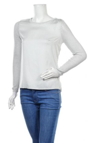Γυναικεία μπλούζα H&M, Μέγεθος S, Χρώμα Γκρί, Βισκόζη, πολυεστέρας, μεταλλικά νήματα, ελαστάνη, Τιμή 10,45€