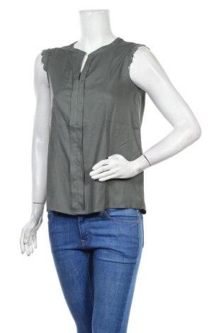 Дамска блуза ONLY, Размер M, Цвят Зелен, Вискоза, Цена 10,22лв.