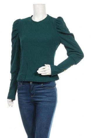Дамска блуза SHEIN, Размер L, Цвят Зелен, 95% полиестер, 5% еластан, Цена 16,96лв.