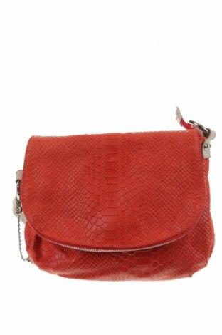 Дамска чанта Anna Morellini, Цвят Червен, Естествена кожа, Цена 97,65лв.