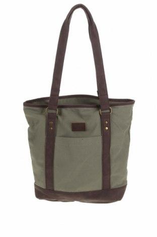 Дамска чанта Brixton, Цвят Зелен, Текстил, Цена 51,75лв.