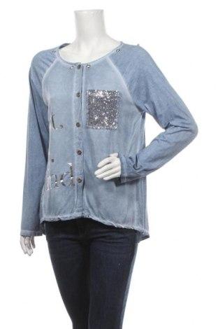 Дамска риза Ambra, Размер L, Цвят Син, Памук, вискоза, Цена 14,18лв.
