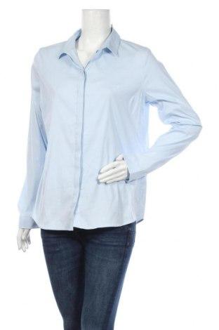 Дамска риза COS, Размер XL, Цвят Син, 85% памук, 11% полиамид, 4% еластан, Цена 59,25лв.