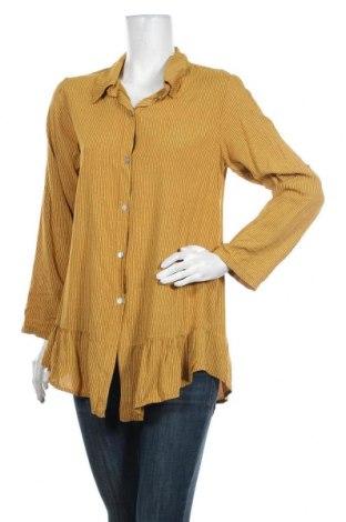 Γυναικείο πουκάμισο Lacony, Μέγεθος M, Χρώμα Κίτρινο, Βισκόζη, Τιμή 10,10€