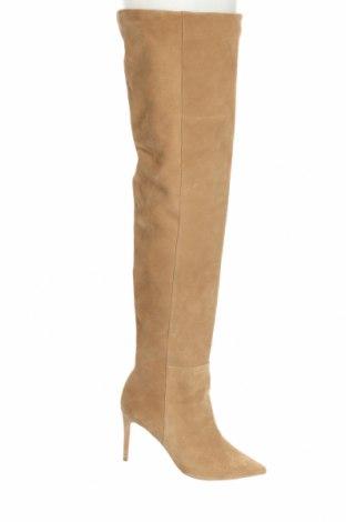 Γυναικείες μπότες L37, Μέγεθος 40, Χρώμα  Μπέζ, Φυσικό σουέτ, Τιμή 46,04€
